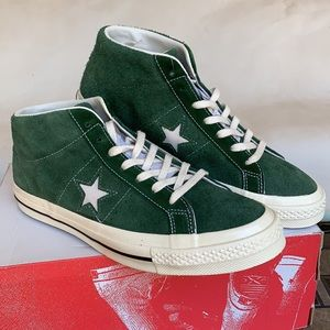 CONVERSE ONE STAR MID SHADOW FIR/EGRET MEN'S